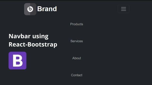 Simple Navbar Using React Bootstrap